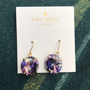 Kate spade gold and purple earrings